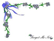 Forget Me Not Border Stock Photos