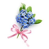 Forget-me-not bouquet Stock Photos