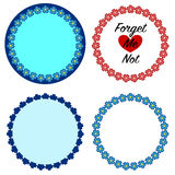 Forget Me Not Flower Wreaths Royalty Free Stock Photography