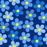 Forget-me-not flowers seamless background Stock Photo
