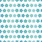 Forget-me-not flowers seamless pattern Stock Photo