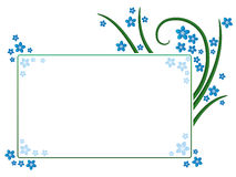 Forget-me-not frame. Floral frame decorated with blue forget-me-not blossoms stock illustration