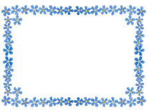 Forget-me-not frame Royalty Free Stock Photography