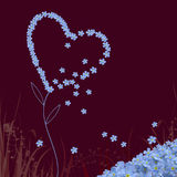 Forget me not heart Royalty Free Stock Image