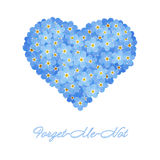Forget-me-not heart Stock Photos