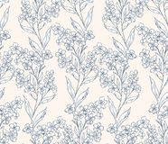Forget-me-not pattern 1 Royalty Free Stock Image