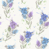 Forget-me-not pattern 3 Royalty Free Stock Photos