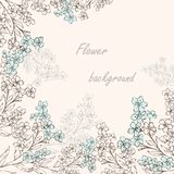 Forget-me-not pattern 2 Stock Photography