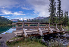 Forget Me Not Pond in Kananaskis Stock Images