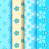 4 forget-me-not seamless pattern Royalty Free Stock Image