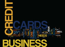 Forget The Worry To Carry Cash Use Business Credit Cards Word Cloud Concept Stock Images