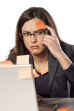 Forgetful businesswoman Stock Photography