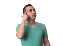 Forgetful Young Man Gesturing With Surprise - Isolated Royalty Free Stock Image