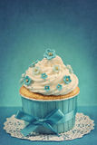 Forgetmenot cupcake Stock Photography