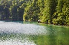 Forggensee, Fussen, lago mountain em Alemanha Fotos de Stock Royalty Free