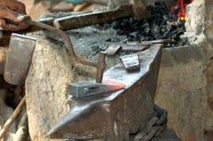 Forgia della testa di martello Fotografia Stock