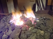 Forgia di Blacksmithing Fotografia Stock Libera da Diritti