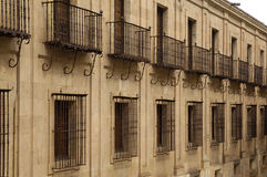 Forging a building with windows. Salamanca stock photos