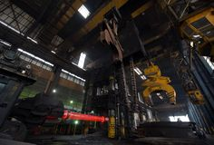 Forging Equipment for stainless steel Royalty Free Stock Images