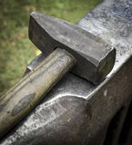Forging hammer on the anvil Royalty Free Stock Images