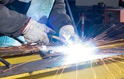 Forging iron sparkling Royalty Free Stock Photos