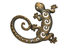 Forging salamander. On white background Royalty Free Stock Images