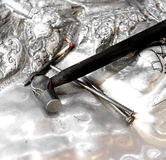Forging the Silver Stock Photo