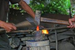 Blacksmiths forging tools Royalty Free Stock Images