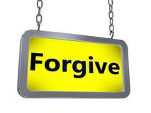 Forgive on billboard stock illustration