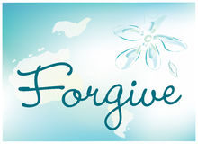 Forgive card. Abstract vector illustration of forgive theme Royalty Free Stock Photo
