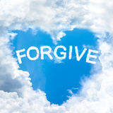 Forgive concept tell by shy cloud nature Royalty Free Stock Photos