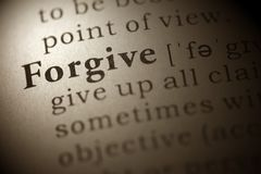 Forgive. Dictionary definition of the word Forgive Royalty Free Stock Photography