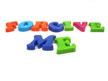 Forgive me. The words forgive me spelled out Royalty Free Stock Photo