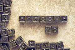 Forgive me blocks Stock Photo