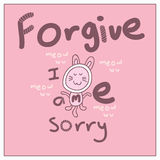 Forgive me cat Royalty Free Stock Photography