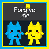 Forgive me frendship card Royalty Free Stock Photos