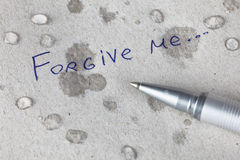 Forgive me Royalty Free Stock Photography