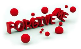 Forgive text Stock Photography