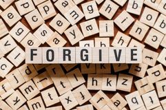 Forgive word concept stock photography