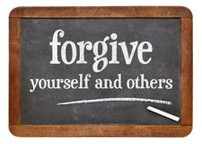 Forgive yourself and others Stock Images