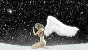 Forgiveness Snow Fairy Illustration Stock Image