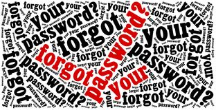 Forgot password? Phrase related to internet website. Royalty Free Stock Images