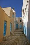 Forgoten medina street. Oldest medina in Sousse, Tunisa stock photo