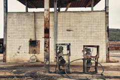 Forgotte worlds - old pumps Stock Photography
