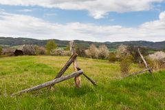 Forgotten abandoned farm Stock Image