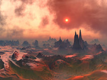 Forgotten Alien World stock image