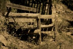 The forgotten bench royalty free stock images