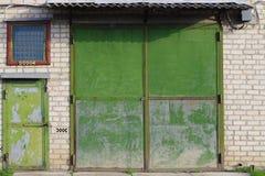 Forgotten building. The front door to the forgotten building Stock Image