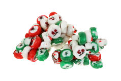 Forgotten Christmas Candy Past. Two chunks of chistmas candy melded together over the years Stock Image