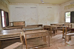 Forgotten Classroom. For a classroom after school is over Royalty Free Stock Image
